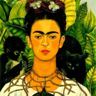 Frida Kahlo - Self-Portrait with Thorn Necklace and Hummingbird