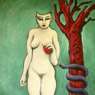 EVE, 2007 painting by Mary Woronov