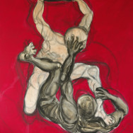 CAIN AND ABEL, 2008 painting by Mary Woronov