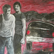 Bad Boys, 2010 painting by Mary Woronov