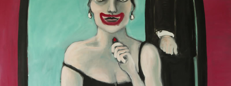 SMILE 2001 painting by Mary Woronov