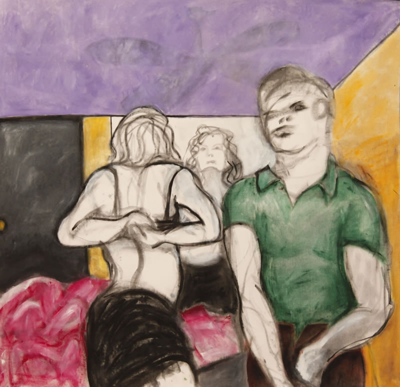 Bad Sex, 2013 painting by Mary Woronov