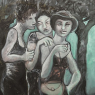 The Three Graces, 2012 painting by Mary Woronov