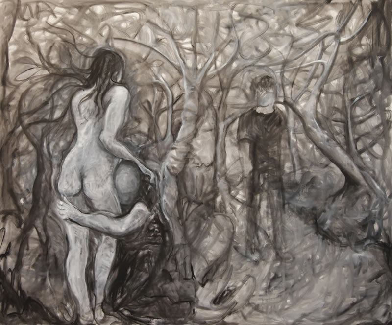 The Forest, 2013 painting by Mary Woronov