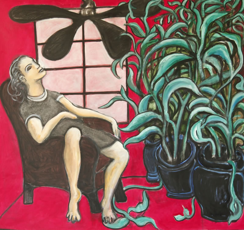 Red Room, 2012 painting by Mary Woronov