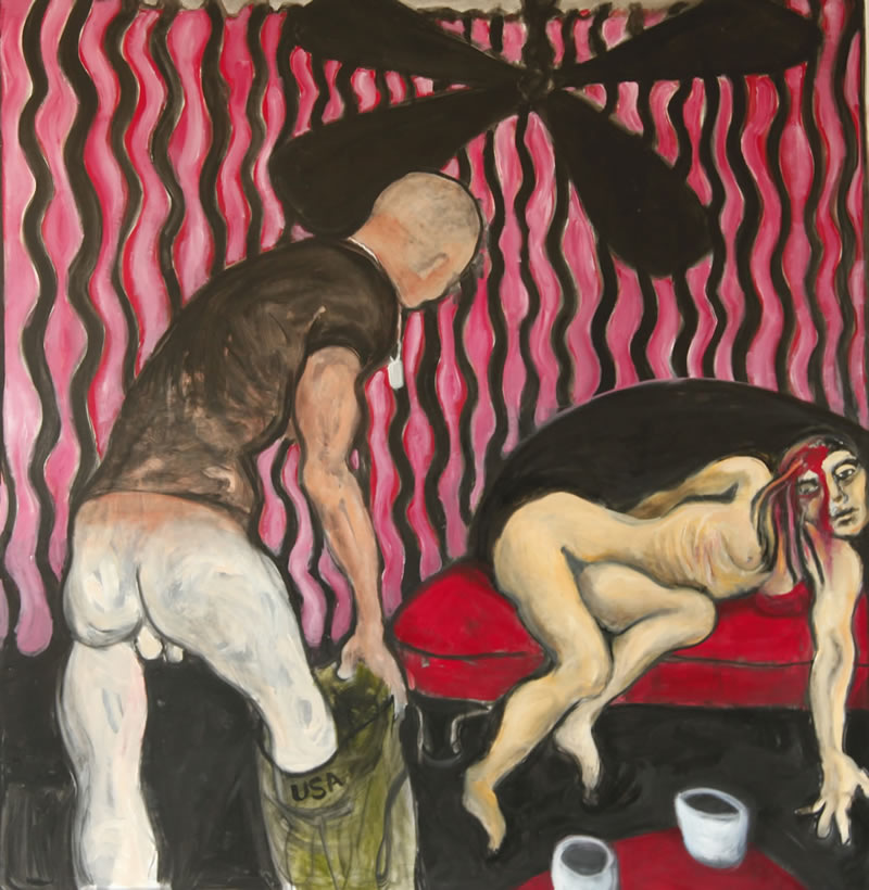 Double Veteran, 2013 painting by Mary Woronov