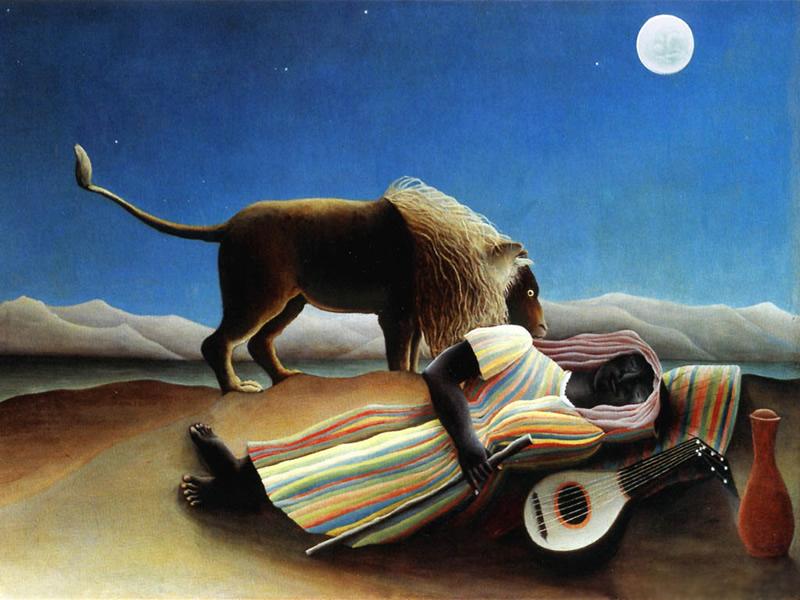 Henri Rousseau, The Sleeping Gypsy, 1897, Museum of Modern Art, New York